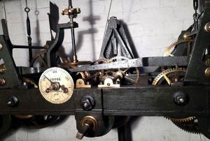Palé Hall's tower clock mechanism