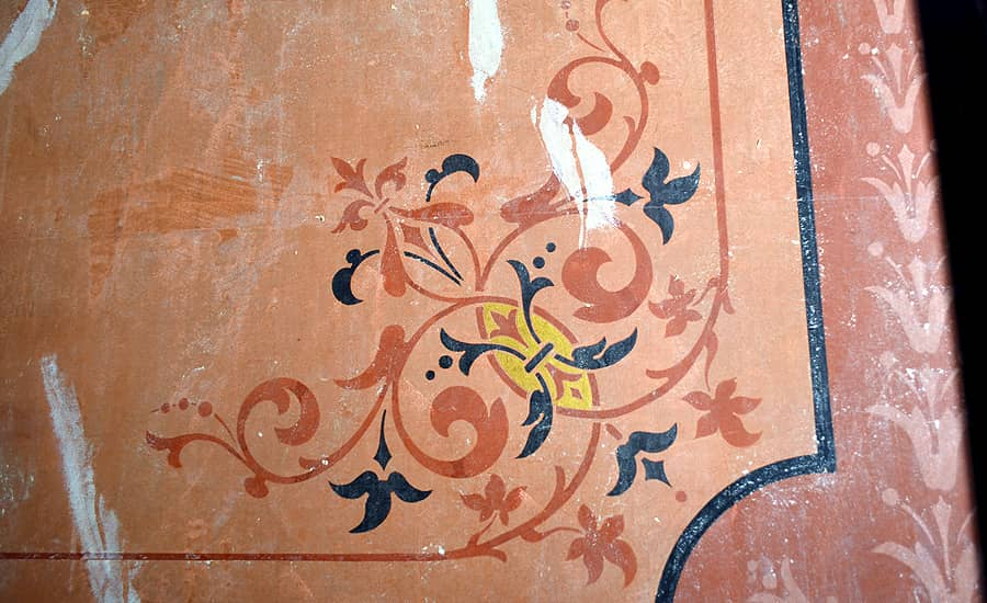 Victorian stencil decoration