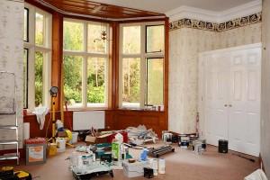 Palé Hall room refurbishment in progress