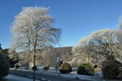 Palé Hall winter frost