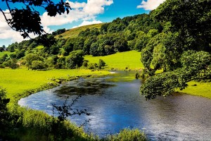 River Dee valley Wales