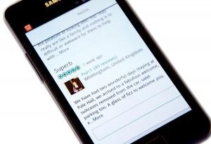 Smartphone Trip Advisor reviews Palé Hall