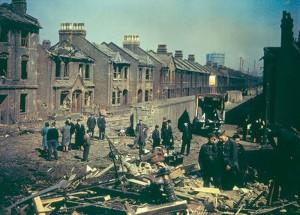 WW2 London bombed street