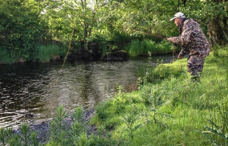 Dee river angling Wales