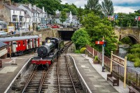Llangollen station heritage steam railway