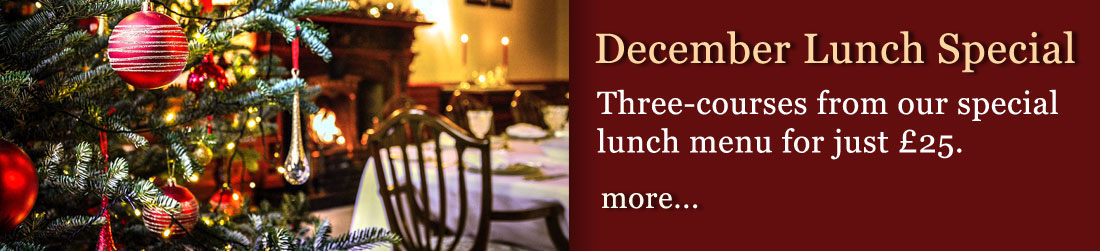 December lunch special at Palé Hall