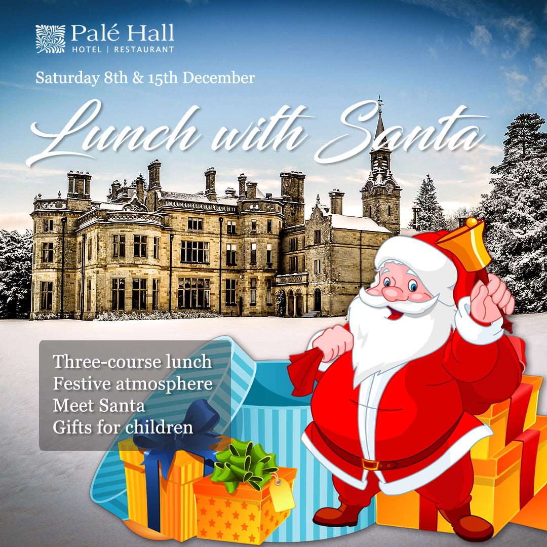 Palé Hall Christmas Santa lunch 2018