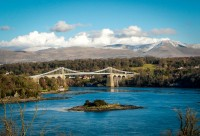 Menai bridge Snowdonia