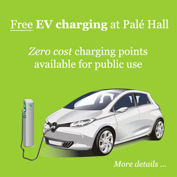 Free EV charging Pale Hall Bala