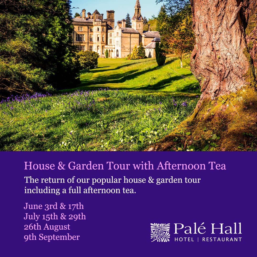 Palé Hall garden tour afternoon tea