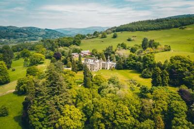 Palé Hall Hotel Snowdonia aerial view