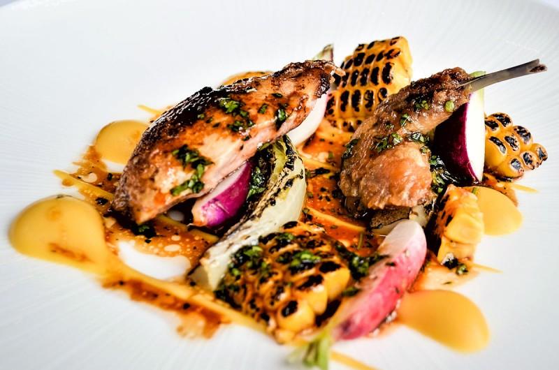Roast quail