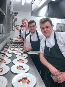 Chef team at Palé Hall
