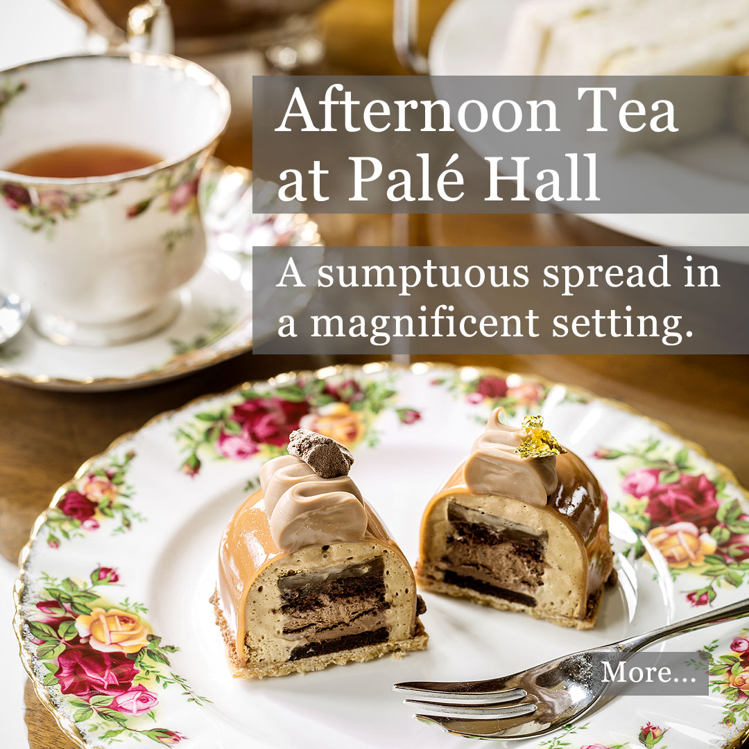 Afternoon tea Palé Hall Hotel Bala Wales