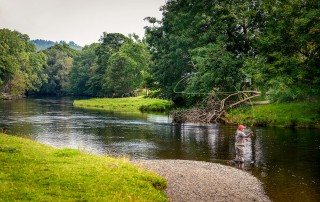 Fly fishing River Dee Wales