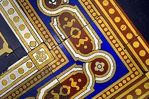 Palé Hall Victorian floor tiles