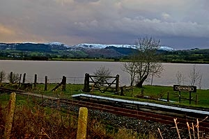 Snow capped hills Bala Lake