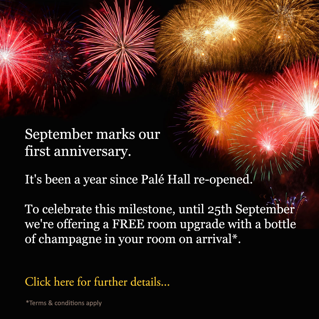 Palé Hall first anniversary promotion