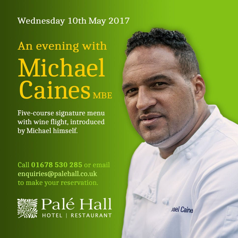 Michael Caines at Palé Hall May 2017