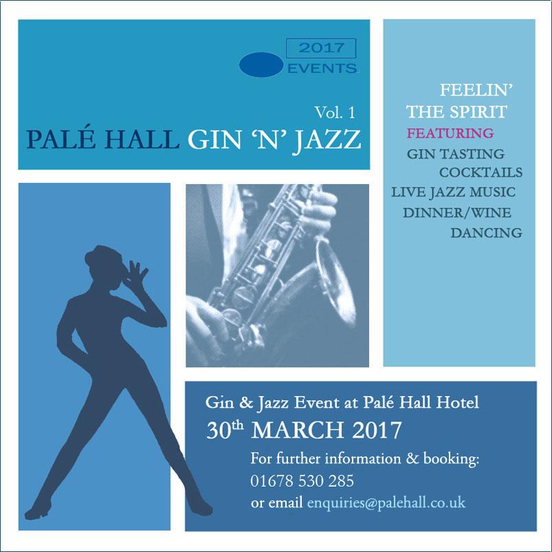 Gin & jazz event Palé Hall Hotel