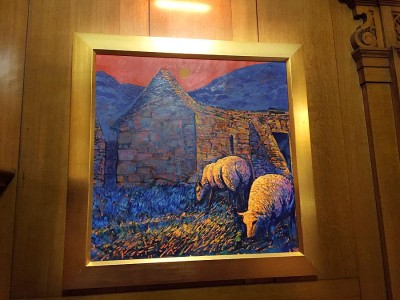 Rob Reen artist - sheep landscape