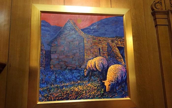 Rob Reen artist - sheep landscape