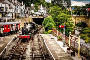 Llangollen station steam railway
