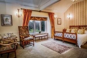 Denbigh room at Palé Hall Hotel.