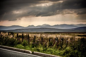 Snowdonia mountains landscape storm light