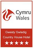 Visit Wales 5 star Hotel award