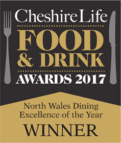 Cheshire Life Food & Drink Awards winner 2017