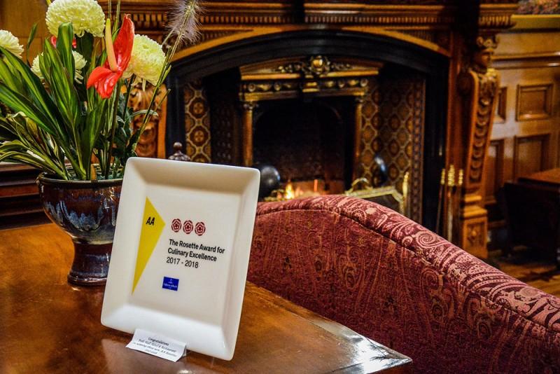 AA rosette award Pale Hall Hotel