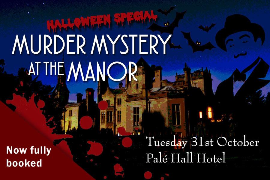 Murder mystery evening Palé Hall