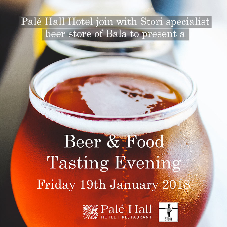 Beer food pairing Palé Hall Stori Bala