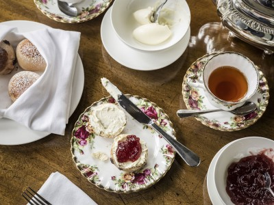 Afternoon tea at Palé Hall Hotel.