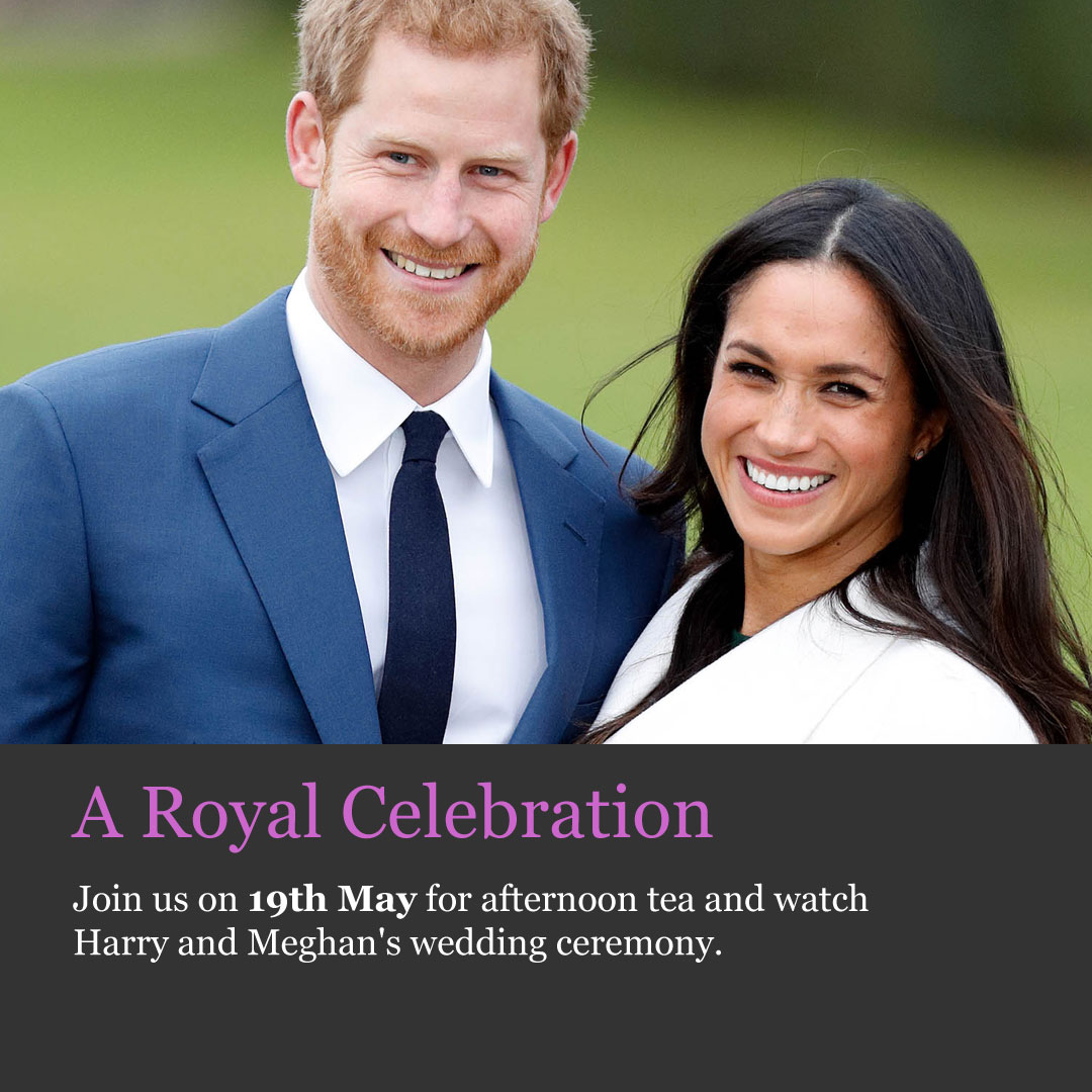 Royal wedding afternoon tea event