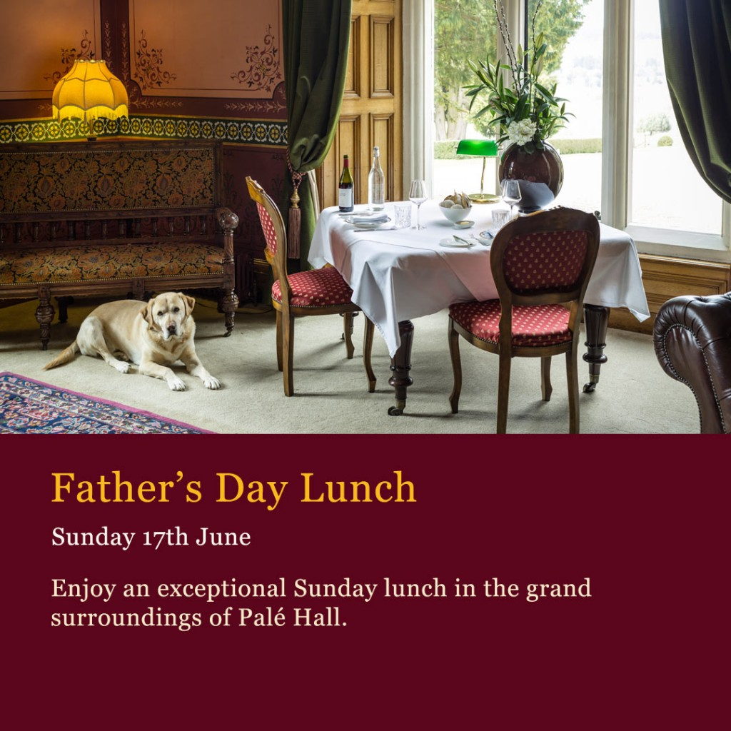Father's Day lunch north Wales