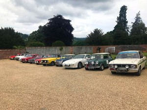 car rally meet Palé Hall Wales